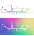 santa barbara skyline colorful linear style vector image vector image