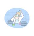 science chemistry coronavirus experiment vector image vector image
