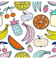 seamless pattern fruits summer mood vector image