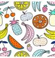 seamless pattern fruits summer mood vector image