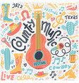 set country music elements for postcards or vector image