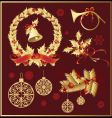 set of christmas decoration variation vector image vector image