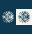set of compass roses or wind roses vector image