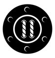 sew button icon simple black style vector image vector image