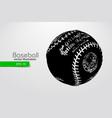 silhouette a baseball ball vector image vector image