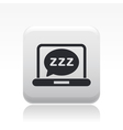sleep computer icon vector image vector image