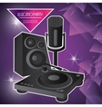 Speaker icon Electro Party design graphic vector image vector image