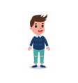 stylish little kid wearing casual clothes blue vector image vector image
