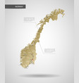 stylized norway map vector image
