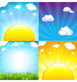 Sun With Beams Set vector image vector image