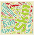 Sunburn An Important Skin Issue text background vector image vector image