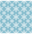 white snowflakes seamless pattern on blue vector image vector image