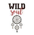 wild soul exploring lettering vector image vector image