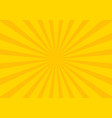 yellow retro vintage style background with sun vector image vector image