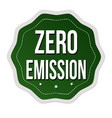 zero emission label or sticker vector image vector image