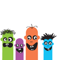 funny cartoon monsters vector image