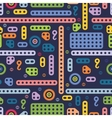 USSR colorful building block pattern vector image