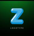 3d playful letter z kids and joy style symbol