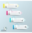 abstract 3d paper infographic elements vector image vector image
