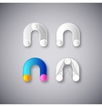 abstract combination of letter n