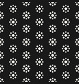 abstract dotted seamless floral pattern vector image vector image