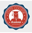 Academic education design vector image