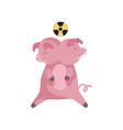 animal mutation radioactive contamination of the vector image