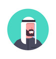 arabic man profile avatar icon arab businessman vector image vector image