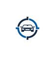 automotive target logo icon design vector image vector image