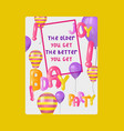 balloon font greeting card banner vector image vector image