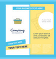 basket company brochure template busienss template vector image vector image