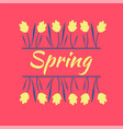 beautiful yellow spring flowers spring mood vector image