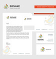 bird business letterhead envelope and visiting vector image vector image