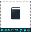 book with bookmark icon flat vector image