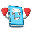 boxing education character cartoon style vector image vector image