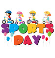 boys and girls riding bike vector image