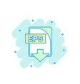 cartoon colored eps file icon in comic style eps vector image vector image