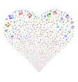 chemistry fireworks heart vector image vector image