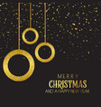 christmas background with baubles and confetti vector image vector image