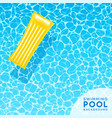 clear blue swimming pool water background vector image