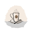 Coffee cup sketch for your design vector image