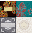 collection of vintage ornamental template vector image