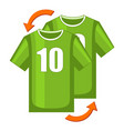 colorful cartoon soccer player replacement icon vector image vector image