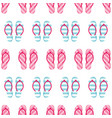 colorful striped flip flops seamless pattern vector image vector image