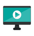 computer screen with video symbol vector image vector image