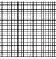 cross line seamless pattern black grid lines vector image