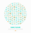 fabric feature concept in circle vector image