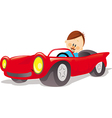 fathers car vector image vector image