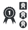 First place icon set monochrome vector image vector image