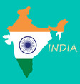flag map of india vector image vector image